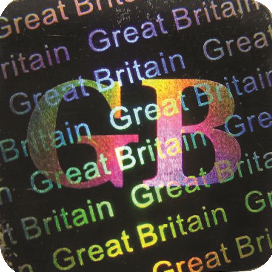 3D Hologramm Siegel England, 12x12mm, Garantiesiegel, Sicherheitsetikett