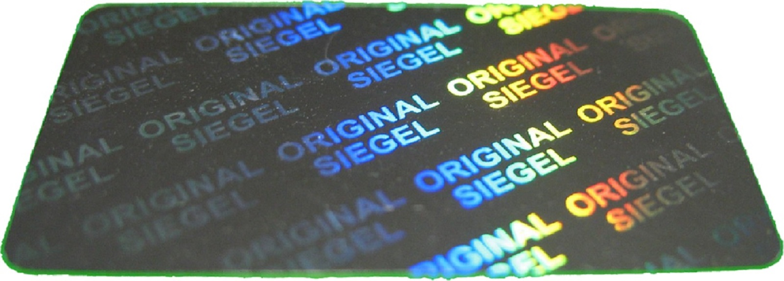 Hologramm-Aufkleber Siegel, 17x30mm silber, Garantiesiegel, Sicherheitsetikett