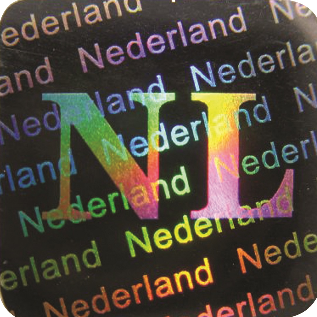 3D Hologramm Siegel Niederlande, 12x12mm, Garantiesiegel, Sicherheitsetikett